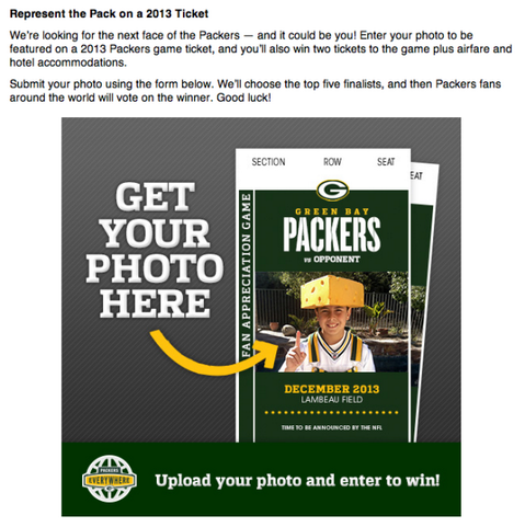 packers fans ticket