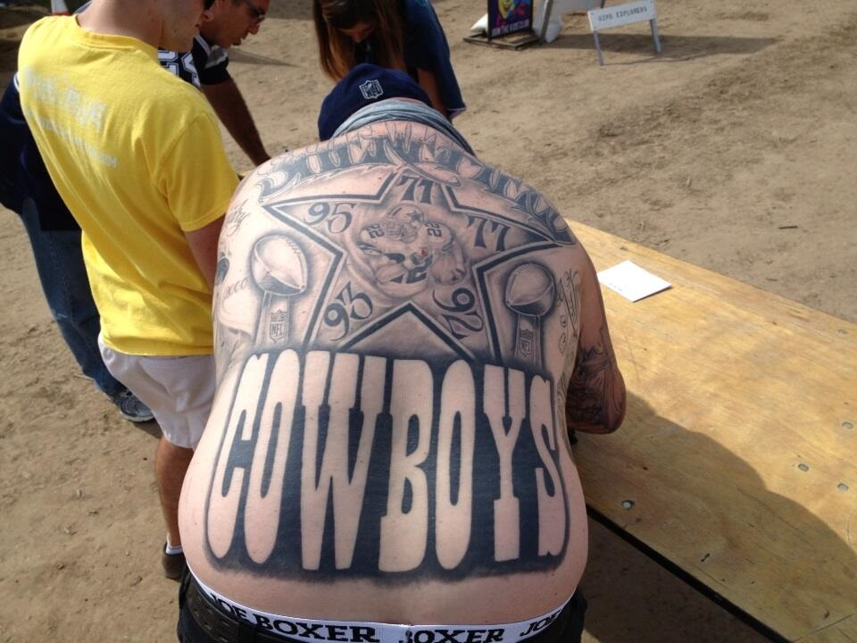 cowboys fan tattoo