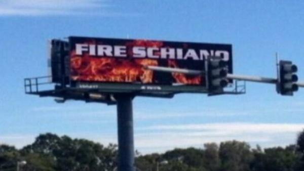 fire schiano billboard