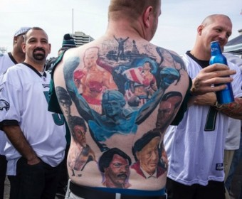 eagles fan tattoo